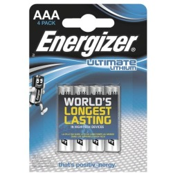 Energizer Micro (AAA) Batterie Lithium Ultimate FR03 1250 mAh 1.5V 4St.