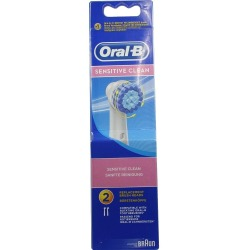 SENSITIVE CLEAN replacement brush heads x 2