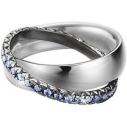 Esprit Ring 925 Silber BRILLIANCE COUPLE BLUE Zirkonia 57 18 1