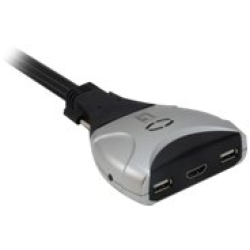 LEVELONE KVM0290 2 Port Kabel KVM Switch HDMI USB Audio