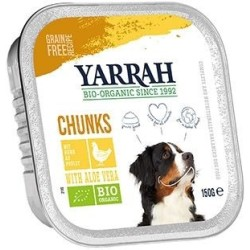 Yarrah Bio Hund Chunks Huhn with Aloe Vera