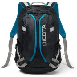 Dicota Backpack ACTIVE XL 15 17.3 black blue Notebookrucksack