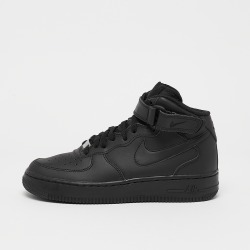 Nike Frauen Kinder Sneaker Air Force 1 Mid Kids Basketball in schwarz