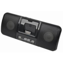 Draagbare speaker met universeel docking station voor iPod en iPhone