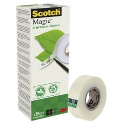 Scotch Magic™ Tape a greener choice Klebefilm matt 19 0 mm x 33 0 m 9 Rollen