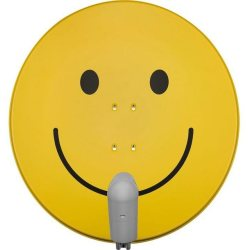 TechniSat 85cm Sat Antenne »SATMAN 850 Plus mit Quattro Switch LNB smiley gelb«