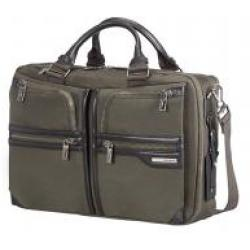 Samsonite GT Supreme Bailhandle 2 Compartments Expandable 15 6 Zoll Dark Olive Black