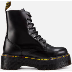 Dr. Martens Jadon Polished Smooth Leather 8 Eye Boots Black UK 7