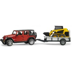 Bruder Jeep Wrangler w. Trailer and Cat
