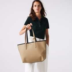 Lacoste Shopping Bag Black Warm Sand