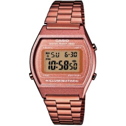 Casio Classic Digital Watch with Stainless Steel Band Rose Gold
