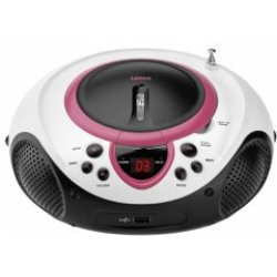 Lenco SCD 38 USB Tragbares Stereoradio Radio CD MP3 USB Audioplayer WMA MP3 rosa (SCD38USBRO)