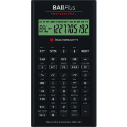 Texas Instruments BAII PLUS PROFESSIONAL financial calculator